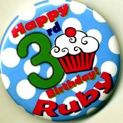 Cupcake Birthday Party Buttons Personalized Buttons Custom Buttons