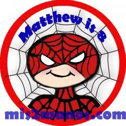 Superhero Stickers Personalized Labels 2 inch Round Favor tag For Spiderman Party Stickers Set of 20