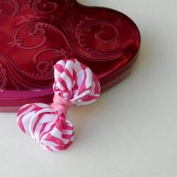 Hair Bows-Small Zebra Bow Tie for Little Girls Pink Zebra Bow